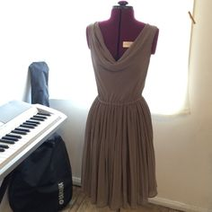 Dress from H&M Cool gray color, Size 6, in great condition, looks great on! H&M Dresses Midi