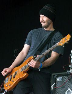 Keanu Reeves playing bass