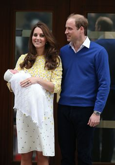 5/2/2015: Lindo Wing of St. Mary's Hospital, with Prince William (Westminster, London)