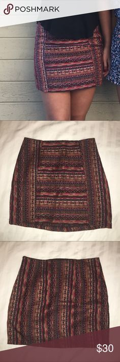 Urban Outfitters Embroidered Mini Skirt Tight fitting mini skirt Urban Outfitters Skirts Mini