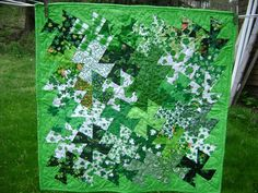 """Twister St. Patrick Quilt by """"ohiobuckeye"""" from the quiltingboard.com"""