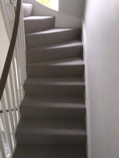 Client: Private Residence In East London Brief: To supply & install grey carpet to stairs Grey Stair Carpet, Carpet Stairs, East London, Home Decor, Decoration Home, Room Decor, Stair Runners, Home Interior Design, Home Decoration