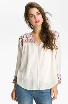 embroidered peasant top - Google Search