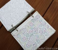 Building a Sampler Book for Free Motion Quilting Motifs by suzana