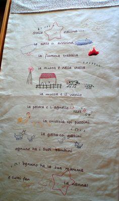 Stella, http://avomeri.wordpress.com/2010/10/08/stella-stellina/ embroidered quilt