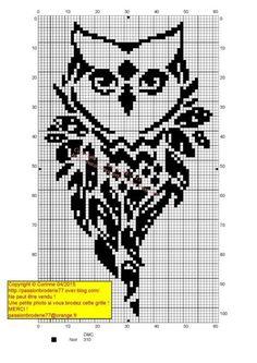 Photo Cross Stitch Owl, Cross Stitch Animals, Cross Stitch Charts, Cross Stitch Designs, Cross Stitching, Cross Stitch Embroidery, Cross Stitch Patterns, Filet Crochet, Graph Crochet