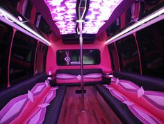 Limo Detroit - 18-20 Passenger Pink Party Bus