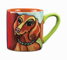 Dachshund Pawcasso Ceramic Mug
