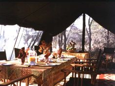 Dining in style while on Safari