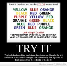 Left Brain & Right Brain Conflict,must Try...
