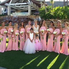 Thank you @dianna_rasha for sending over this beautiful picture of simply STUNNING #bridesmaids wearing #JarloLondon #Lily maxi dresses in pink!! Congratulations to the married couple on their gorgeous #wedding!