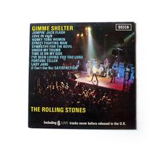 vintage record 1971 ROLLING STONES Gimme Shelter uk rock vinyl 33rpm - blue label on Etsy, $28.08