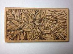 Wooden flower wood burning, this would be realllly hard to do. Wood Burning Crafts, Wood Burning Patterns, Wood Burning Art, Wood Burn Designs, Pyrography Patterns, Got Wood, Creation Deco, Wooden Flowers, Into The Woods