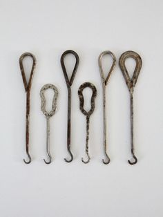 antique boot hook collection - 86 Vintage