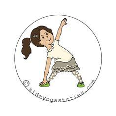 Triangle Pose Kids Yoga Stories