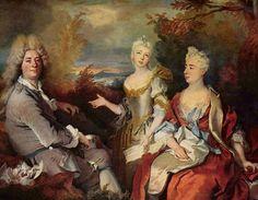 Nicolas de Largillière (1656–1746) ;      Deutsch: Selbstporträt mit Familie; English: Self-Portrait with Family; between 1710 and 1715;; oil on canvas;   Louvre Museum