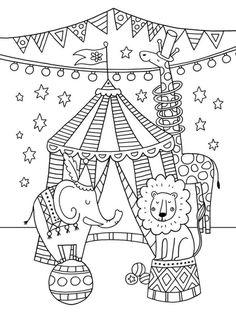 Thema circus o piercing de cada signo - Piercing Circus Theme Crafts, Circus Crafts Preschool, Circus Theme Classroom, Circus Activities, Carnival Crafts, Carnival Themes, Circus Animal Crafts, Colouring Pages, Coloring Books
