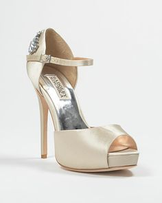 Nessa Decorated Ankle Strap Pump. Baby needs some height on her wedding day!