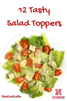 12 tasty salad toppings - includes homemade crouton recipe and how to toast nuts.