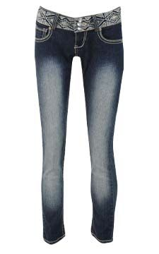 Embroidered Waist Skinny Jean                                                                        front view