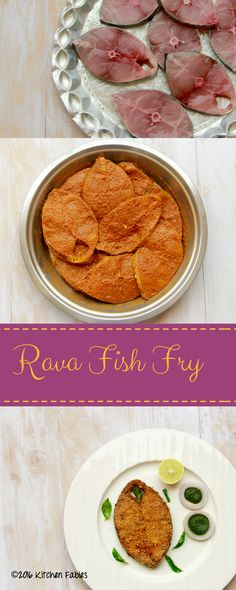 Recipe for Goan style Rawa Fish Fry. It is an easy recipe with a few readily available ingredients.