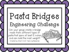 Pasta Bridges: Engineering Challenge Project ~ Great STEM Activity! $