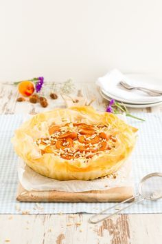Aprikosen Käsekuchen im Filoteig // Apricot Cheesecake in Filo dough