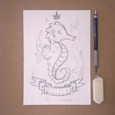 "005 - ""Royalty"" #seahorse #illustration #artsupplies #watercolor #draw #drawing #drawings #sketch #sketching #sketch #sketchbook #cavalomarinho #king #sea #animal #crown"
