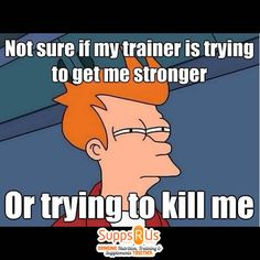 Trainer trying to kill me?   www.supppsrus.com.au #gym #fitness #Suppsrus #health