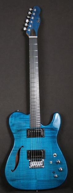 Shaw Coral Blue Thinline Electric Guitar