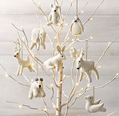 Wool Felt Animal Ornaments