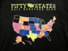 #running #halfmarathon Fifty States Half Marathon Club apparel & club gear member creativity!  http://www.50stateshalfmarathonclub.com