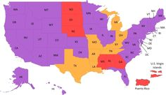 CONGRATULATIONS Florida! You are finally a purple state! Marriage Equality for ALL January 6, 2015! Map Key at: http://www.engaygedweddings.com