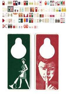 Retro hotel door hangers and 'Do not disturb' signs on the Smith Travel Blog