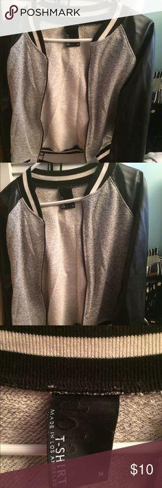 Black and White Jacket Black and White NEVER WORN Leather-like jacket dolan Jackets & Coats