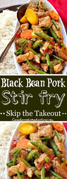 """Here is just one way to make a """"Black Bean Pork with Vegetables Stir fry """" it goes great alongside a warm bowl of Jasmine rice ? I tend to use broccoli most times for this recipe. However today I had a bag of frozen asian vegetables that I used instead. Fun Easy Recipes, Quick Dinner Recipes, Quick Easy Meals, Paleo Recipes, Asian Recipes, Mexican Food Recipes, Crockpot Recipes, Budget Recipes, Roasted Vegetable Recipes"""