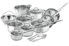 Amazon.com: Chef's Star Professional Grade Stainless Steel 17 Piece Pots & Pans Set - Induction Ready Cookware Set with Impact-bonded Technology: Kitchen & Dining