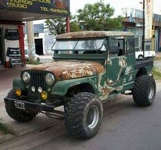 """redjeep: """"a well seasoned 1948 Willys Jeep Pick-up… = ] """" Jeep Willys, Cj Jeep, Jeep Wrangler, Jeep Pickup, Jeep Truck, Cool Jeeps, Cool Trucks, 4x4 Trucks, Custom Trucks"""