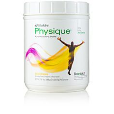 Shaklee Physique®  Supports muscle repair  • Helps rebuild firm, lean muscle  Physique with BIO-BUILD®, a unique blend of protein and carbohydrate sources, has been clinically proven to naturally activate and enhance the body's recover process after exercise.  www.vitaminrepresentative.com