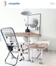 Absolutely loving this DIY dining set, very cool!