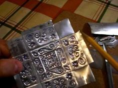 soda can to embossed tin (box, too hard) I would make flat ornaments or flat signs