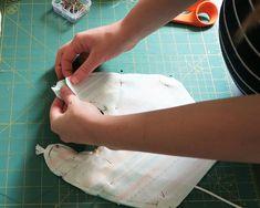 Baby Drool Bibs With FREE Pattern Baby Bibs Patterns, Sewing Patterns Free, Bib Pattern, Free Pattern, Crib Sheet Tutorial, Drool Bibs, Fabric Scissors, Macrame Cord, Pom Pom Trim