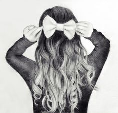 Image result for hair drawing tumblr bun