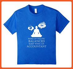 Kids Accountant T-shirt - Wake up feeling balanced 6 Royal Blue - Careers professions shirts (*Partner-Link)