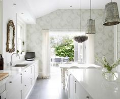 White European Kitchen.