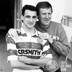 Paul McStay & Billy McNeill, Celtic's top two in terms of appearances for the Hoops. Celtic Club, Celtic Fc, Irish Republican Army, Celtic Images, Retro Football, Now And Forever, Football Boots, Football Players, Glasgow