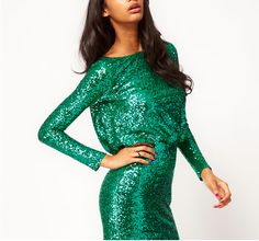 my emerald green 2012 new year's eve dress! It's the color of the year I had to wear it! I used it in my birthday party too.