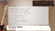 Like A Prayer - Madonna Bass Backing Track with chords and lyrics