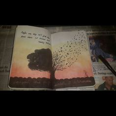 Wreck this journal - page 56- 57 by Damselindubai.dev... on @deviantART