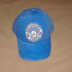 Grateful Dead Baseball Hat .. new, hand made, one size adjustable- all sales final by JerrysShoppe on Etsy